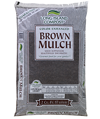 Long Island Compost® Color Enhanced Brown Mulch
